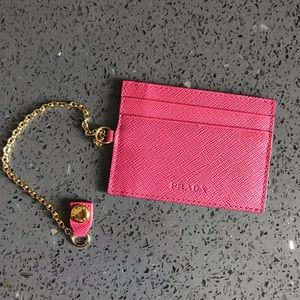 Pink Prada Card Holder